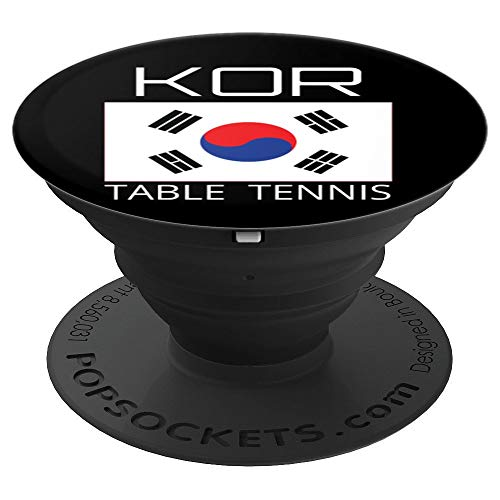 South Korea Table Tennis Athlete Ping Pong Korean Flag Gift PopSockets Grip and Stand for Phones and Tablets (Best Tennis Game For Android)