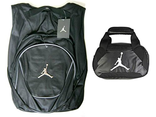 aabea1b497b4 Galleon - Nike Air Jordan Jumpman Backpack   Insulated Trainer Lunch Tote  Bag Set + FREE Cell Phone Dust Plug (Gray Black)