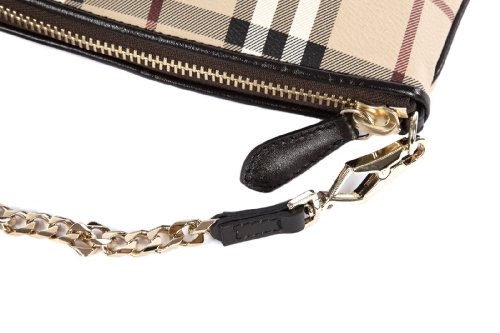 Burberry Pochette Handtasche Damen Tasche Leder Clutch Bag clara beige