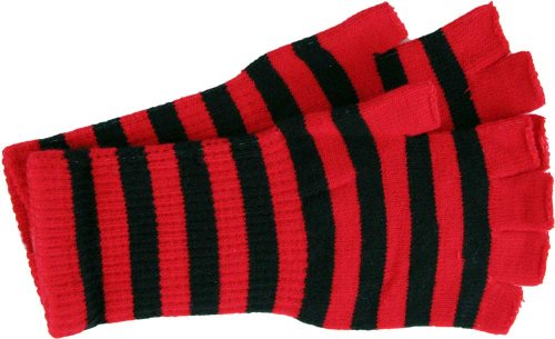 Amazon Fingerless Gloves Comes In Several Colors Blackred