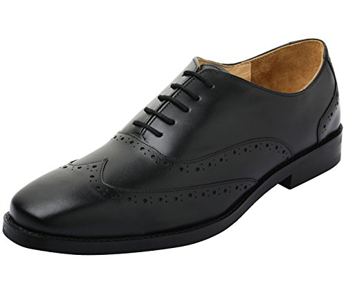 Footwear Mens Black Lace Oxford - Lethato Handcrafted Men's Wingtip Genuine Leather Lace Oxford Dress Shoes- Black
