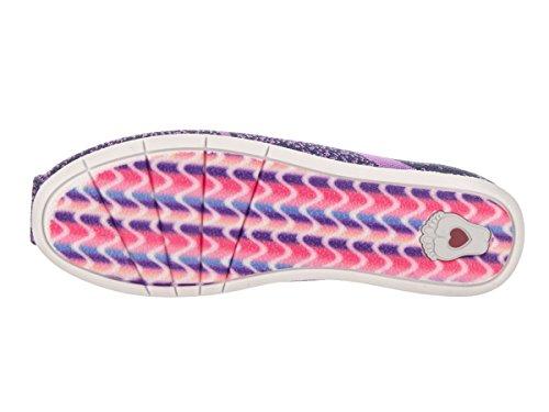 Skechers Bobs De Womens En Peluche Lite Sox Hop Plat Marine / Violet