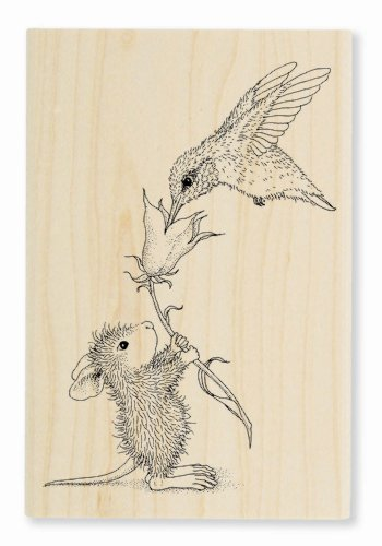 Stampendous Wood Handle Stamp, Hummingbird Feeder
