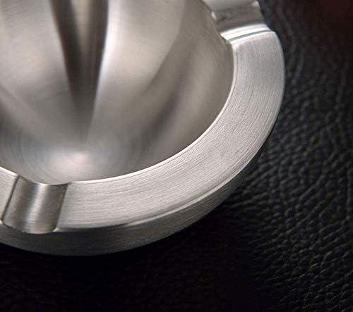 SRX 洗えるステンレス製のオフィス洗える灰皿肥厚/ラウンド/ 12 * 5センチメートル