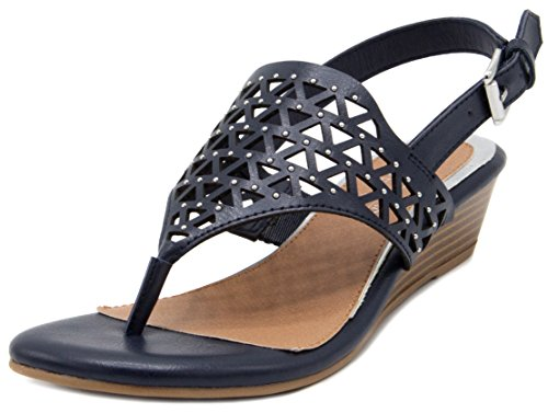Rampage Burnish Sachin Navy Wedge Sandal Ram Women n0wqPO