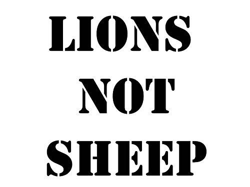 Lions Not Sheep Premium 5 Inch White Decal   Sheep Dog  3 Percenter   Iii    3Up  Sniper   Maga   Chris Kyle   America   Iii    Patriot   Trump