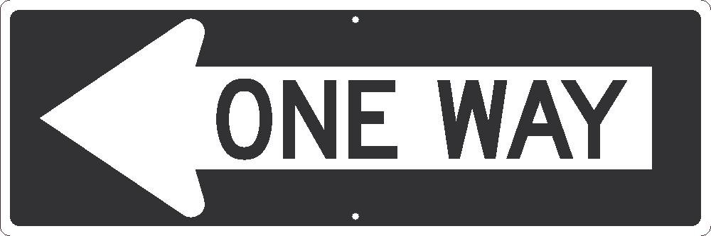 National Marker TM508K one Way Arrow Left Sign,12 inches X 36 inches.080 Hip Ref Alum