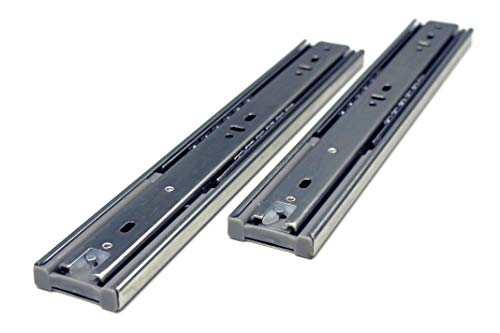 10 Pack Berta Full Extension Soft/Self Close Ball Bearing Side Mount Drawer Slides 12-Inch 100Lb Load Rating (10 Pairs)