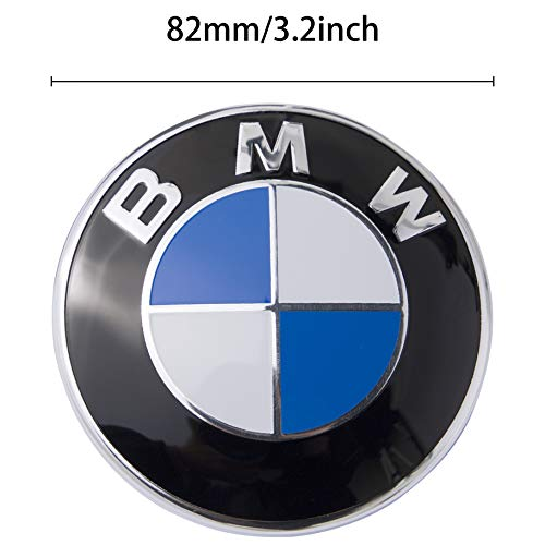 Emblem Logo Replacement for ALL Models BMW Hood/Trunk E30 E36 E34 E60 E65 E38 X3 X5 X6 3 4 5 6 7 8 (82mm)