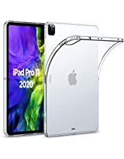 ESR Rebound Soft Shell Case for iPad Pro 11 2020 & 2018, Clear TPU Back Cover, Supports Apple Pencil Wireless Charging Slim-Fit Shell Case, for 11‑inch iPad Pro