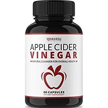 Havasu Nutrition Extra Strength Apple Cider Vinegar Pills - Natural Weight Loss, Detox, Digestion - Powerful 500mg Cleanser, Premium-Non-GMO Cider Capsules