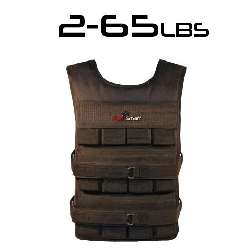 From 2lbs to 65lbs Adjustable Athletic Weighted Vest AmStaff Fitness