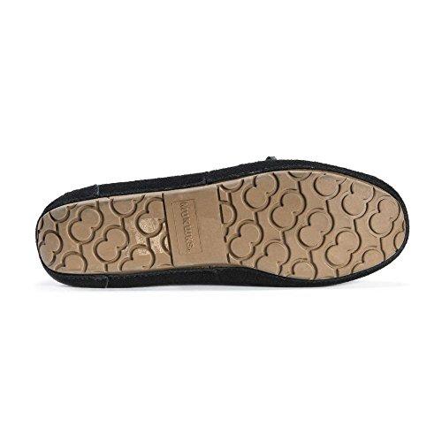 Muk Luks Womens Camoscio Jane Mocassino Pantofola Nera