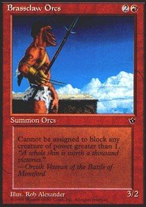 (Magic: the Gathering - Brassclaw Orcs - Fallen Empires)