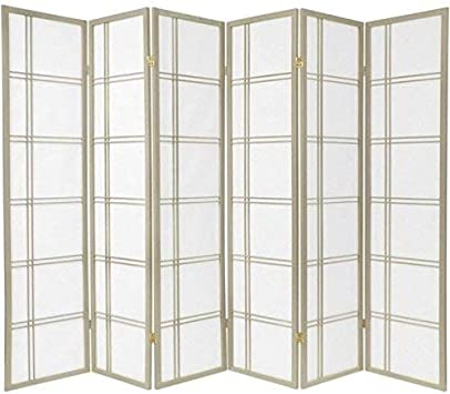 Oriental Furniture Double Cross Shoji Screen Room Divider