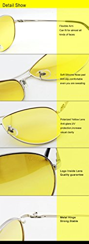 argenteo 3025y Men Duco Vision Polarized For Driving Glasses Night antiriflesso xTfxqSF