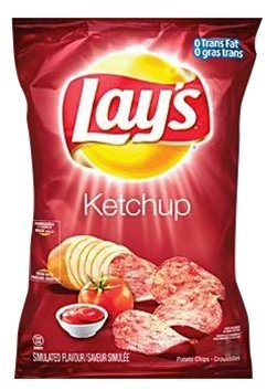 Canadian Lays Ketchup Chips 1 Bag 180 grams