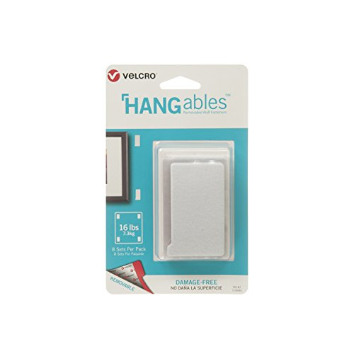 VELCRO Brand - HANGables - Removable Wall Fasteners, Large Strips - 8 ct