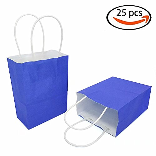 AZOWA Gift Bags Mini Kraft Paper Bags with