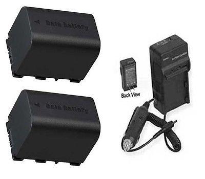 2電池+充電器for JVC gz-ms110u、JVC gz-ms150、JVC gz-ms210、JVC gz-ms210buc、JVC gz-ms210u B01DLNLJ16