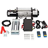 TRIBLE SIX 12000 lb Electric Winch 12V with Remote Truck SUV ATV BoatTrailer Winch Waterproof