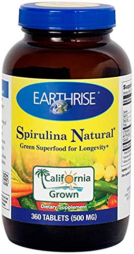 Earthrise, Spirulina Natural, 500 mg, 3 Pack 360 Tablets Product Images and Information,