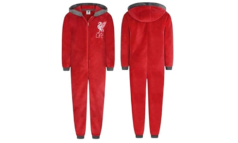 Adults Ladies Mens Football Liverpool LFC Fleece Onesie All in One - Small - X-Large WH31024