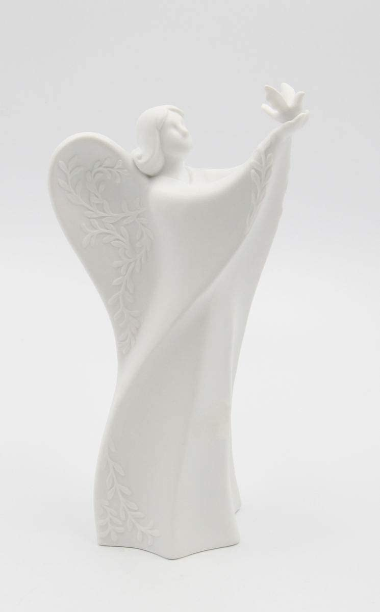 Details about  /Vintage White Plastic Angel Ornament Made in Japan With Bird