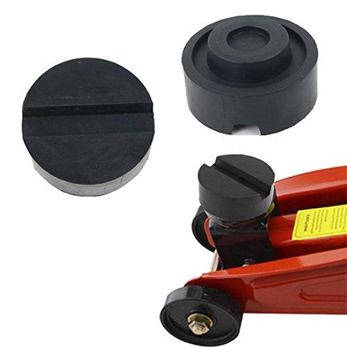 ICTRONIX 65 x 25mm Nut & gaufré Bloc en caoutchouc Surface en caoutchouc Bloc en caoutchouc pour pont élévateur tampon