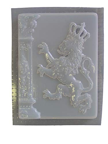 Lion Crown Plaque Concrete or Plaster Mold 7143 ()