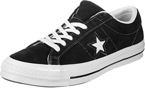 Converse Mens Sneakers Ox In Pelle Scamosciata Stelle Nere / Bianche