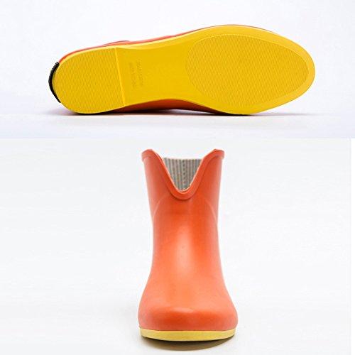 38EU 5 Rutschfestigkeit und 5UK Galoschen 2 Damen 2 Größe Farbe 7 Gummi 5US Regenzeit weicher Bequemer 1 QIANDA Regenstiefel Schuhe Verschleißfeste Farben Xw8TqqRa