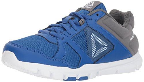 Shoe Children Watches (Reebok Unisex Yourflex Train 10 Sneaker, Vital Blue/Alloy/White, 7 M US Little Kid)