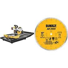DEWALT D24000 1.5-Horsepower 10-Inch Wet Tile Saw & DEWALT DW4764 10-Inch by .060-Inch Premium XP4 Tile Blade Wet