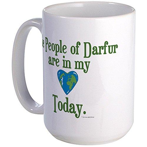 Darfur Heart - CafePress Darfur Heart 3 Large Mug Coffee Mug, Large 15 oz. White Coffee Cup