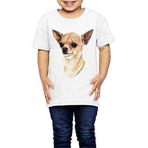 Yishuo Girls Chihuahua Fashion Travel Tee Short Sleeve White 5-6 Toddler by Yishuo (Image #4)
