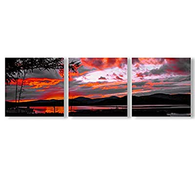Classic Design, Gorgeous Visual, Abstract Cloud Tree Pictures Home Wall for Bedroom Living Room Oil Paintings Framed x3 Panels