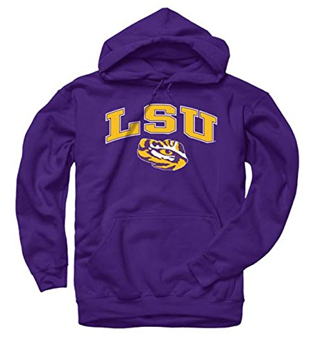 Campus Colors LSU Tigers Arch & Logo Gameday Hooded Sweatshirt - Purple, XX-Large