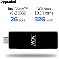 Windows Mini PC Compute Stick - AWOW Windows 10 Home Edition in Intel Z8350 Quad Core 1.84GHz Built - In WiFi Bluetooth 4.0