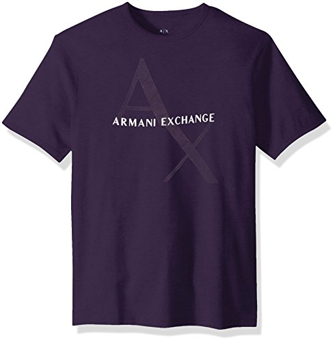 A|X Armani Exchange Men's Classic Cotton Logo Tee, Purple Velvet, M