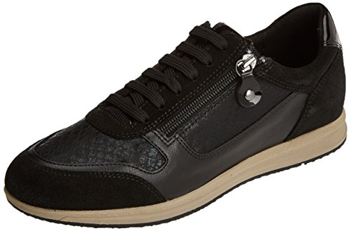 Geox D Avery a, Zapatillas para Mujer Negro (Black C9999)