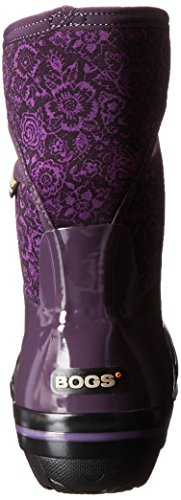 Boot Plimsoll Floral Plum Bogs Mid Women's Winter Snow Quilted f6WqAw0
