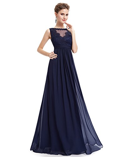 Ever-Pretty Womens Long Empire Waist Evening Gown 8 US Navy Blue (Evening Empire Waist Gowns)
