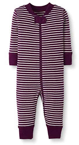 Moon and Back by Hanna Andersson Baby/Toddler One-Piece Organic Cotton Footless Pajamas, Berry Stripe Stripe, 18-24 months ()