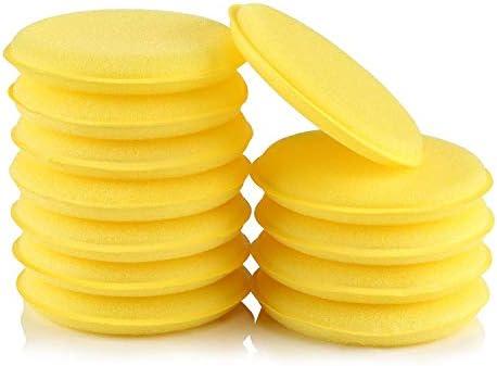 Lihao 12x Polierschwämme Wachs Schwämme Weich Universalreiniger Waxing Schwamm Für Polieren Reinigung Waschen Auto