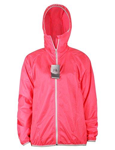 NavisMarine Women's Lightweight Jacket Outdoor Windbreaker Waterproof Pullover Packable Hooded Quick Dry UV Protect 4.5 oz (Red, L) ()