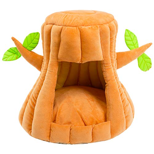 Hollypet Cozy Pet Bed Warm Cave Nest Sleeping Bed Tree Shape Puppy House for Cats and Small Dogs