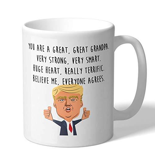 MugBros Funny Great Grandpa Donald Trump Novelty Prank Gift 11 Ounce Coffee Mug (Grandpa Mug)