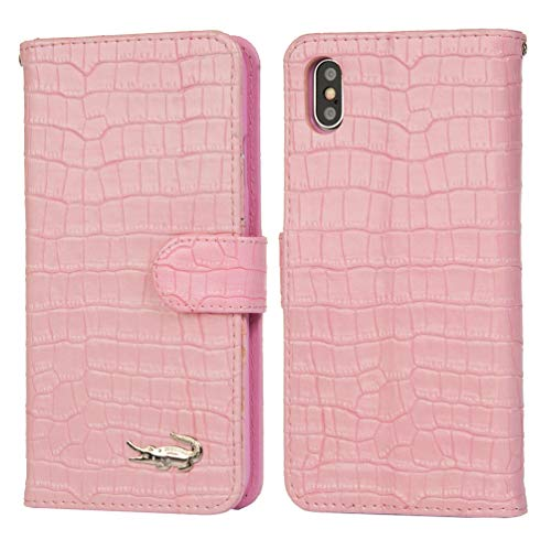 iPhone Xs Max Case, Crocodile Pattern Wallet Soft PU Leather Case with Kickstand Function Card Holder and ID Slot Slim Flip Protective Case