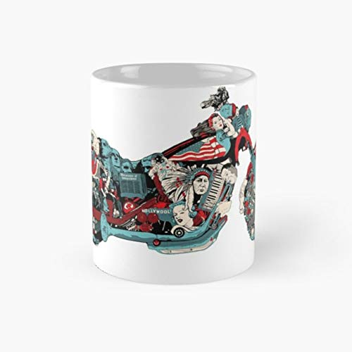 Motorcycles Mug, all american Cup, 11 Ounce Ceramic